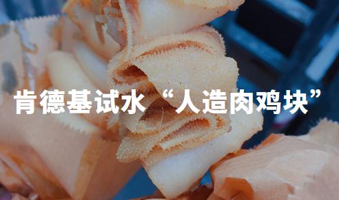 """肯德基试水""""人造肉鸡块"""",月底将在沪、广、深三城公测,人造肉再成焦点?"""