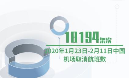 航空行业数据分析:2020年1月23日-2月11日中国广州白云国际机场取消18194架次航班