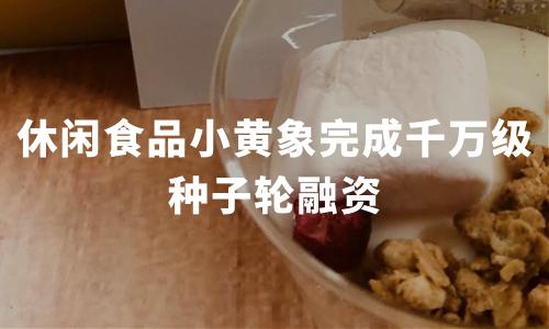 小黄象完成千万级种子轮融资,中国休闲食品电商发展现状与趋势分析