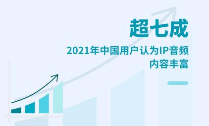 在线音频行业数据分析:2021年中国超七成用户认为IP音频内容丰富