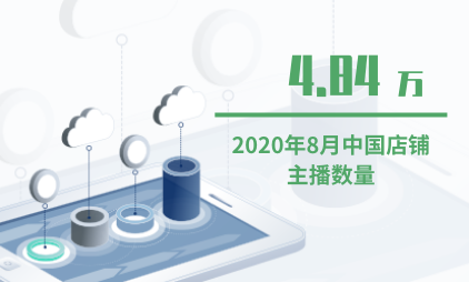 主播行业数据分析:2020年8月中国店铺主播数量为4.84万