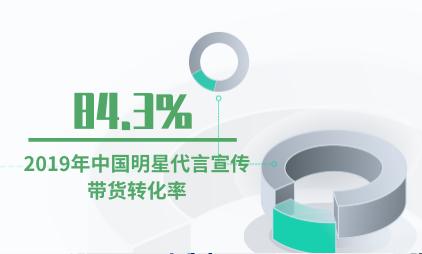 KOL行业数据分析:2019年中国明星代言宣传带货转化率为84.3%