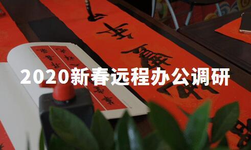 2020中国新春远程办公调研:超五成用户已适应