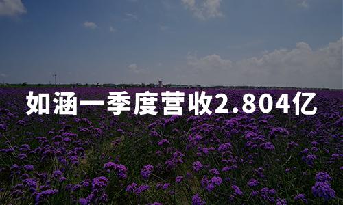 """""""网红电商第一股""""财报:如涵一季度营收2.804亿,服务收入增长74%"""