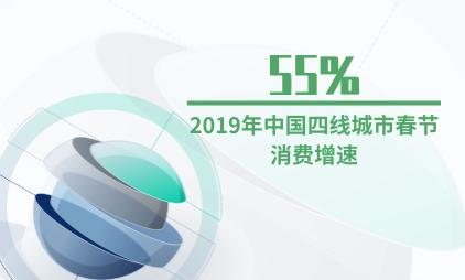 新春消费行业数据分析:2019年中国四线城市春节消费增速为55%