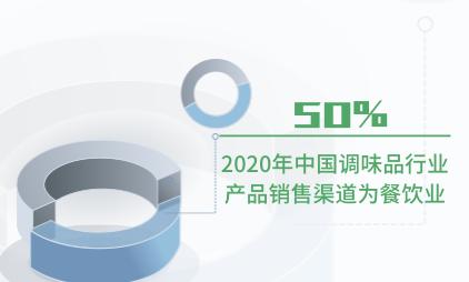 调味品行业数据分析:2020年中国调味品行业50%产品销售给餐饮业