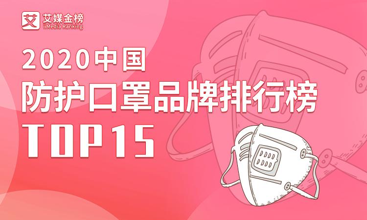 艾媒金榜|《2020中国防护口罩品牌排行榜(TOP15)》:3M位居第一,绿盾、霍尼韦尔排名第二、第三