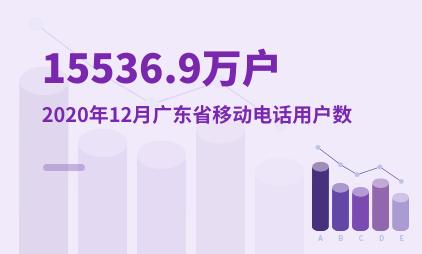 通信行业数据分析:2020年12月广东省移动电话用户数为15536.9万户