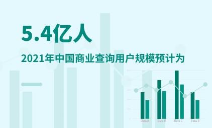 商业查询行业数据分析:2021年中国商业查询用户规模预计为5.4亿人