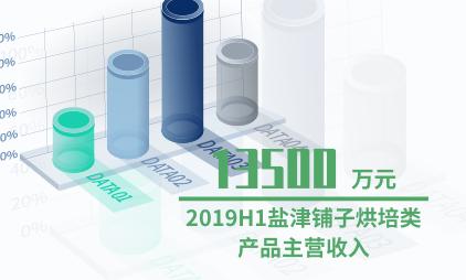 休闲食品行业数据分析:2019H1盐津铺子烘培类产品主营收入为13500万元