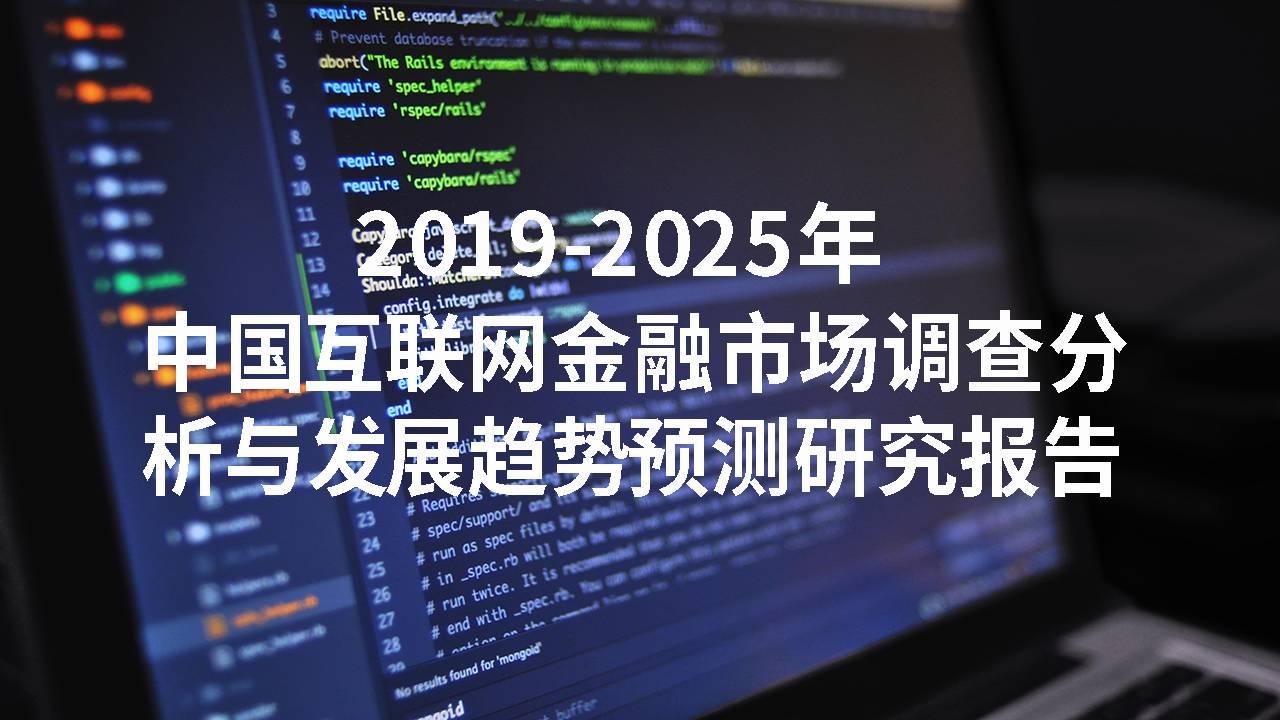 2019-2025年中国互联网金融市场调查分析与发展趋势预测研究报告