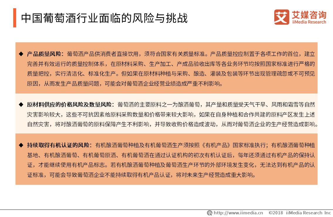 中国葡萄酒行业面临的风险与挑战