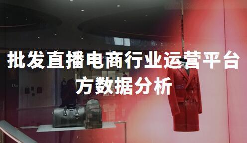 2020年中国批发直播电商行业内容创作方与运营平台方数据分析