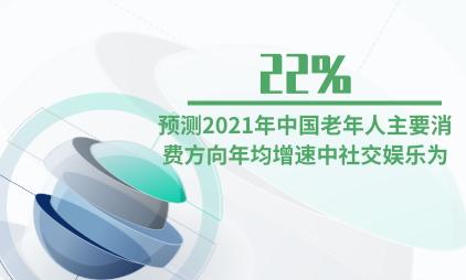 银发经济行业数据分析:预测2021年中国老年人主要消费方向年均增速中社交娱乐为22%