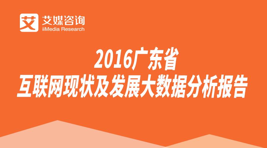 2016广东省互联网现状及发展大数据分析报告