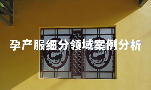 2020年10月中国孕产服细分领域数据监测及案例分析